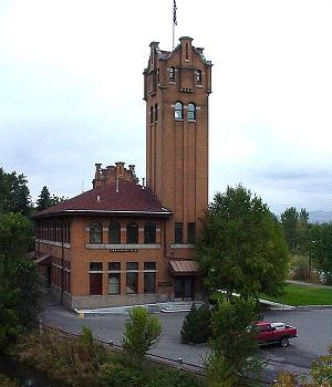 Missoula Station (no longer used as a station), in Missoula, Montana