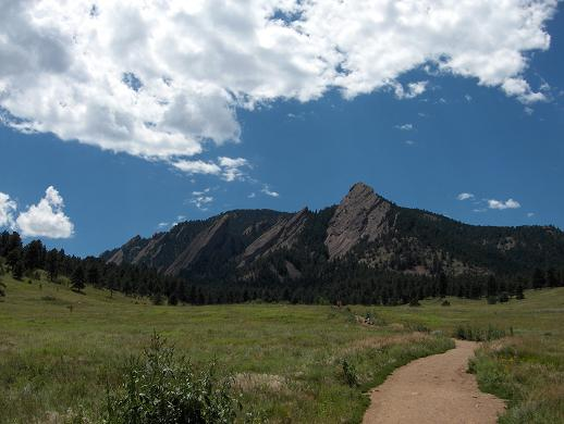 There are many opportunities for hiking and biking near Boulder, Colorado