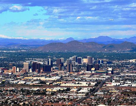 Phoenix photographed from South Mountain