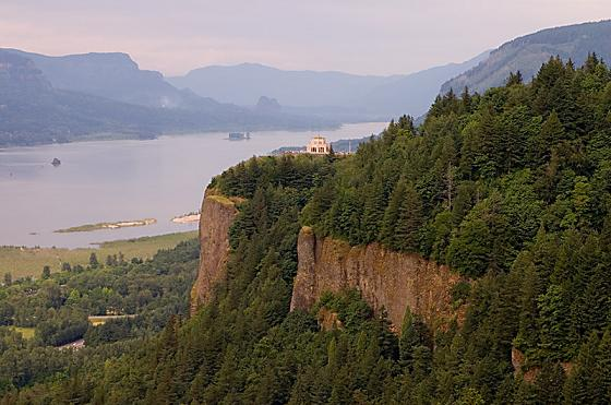 Columbia River Gorge near Crown Point, Oregon