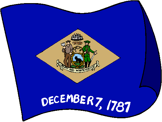 Delaware Flag - pictures and information about the flag of Delaware