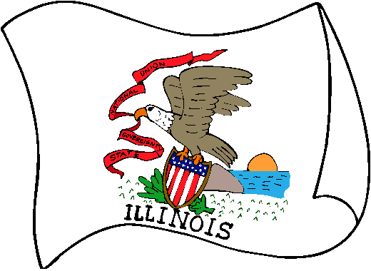 Illinois Flag - pictures and information about the flag of Illinois