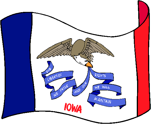 Iowa Flag - pictures and information about the flag of Iowa