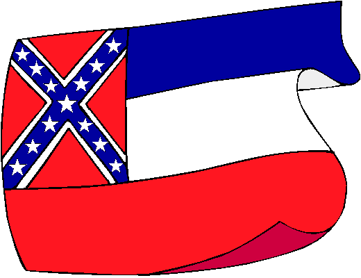 Mississippi Flag - pictures and information about the flag of Mississippi
