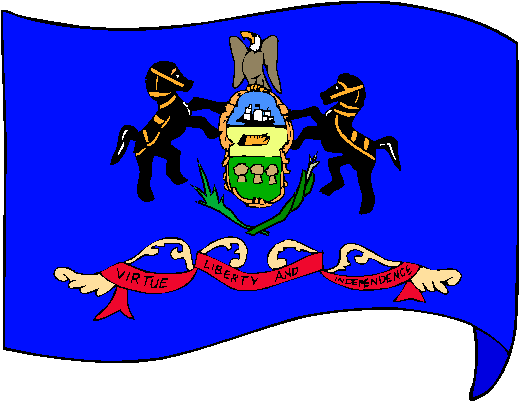 Pennsylvania Flag - pictures and information about the flag of Pennsylvania