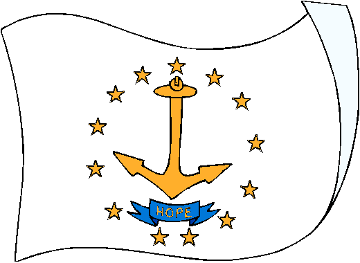 Rhode Island Flag - pictures and information about the flag of Rhode Island