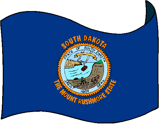 South Dakota Flag - pictures and information about the flag of South Dakota