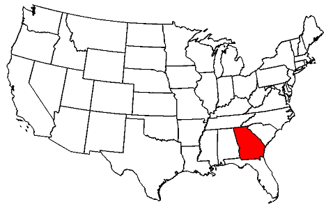 Georgia On Usa Map Georgia Map - Map georgia usa