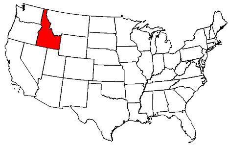 this map shows an overview of idaho