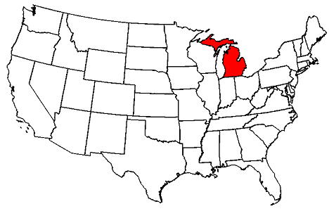 Michigan Map Us Michigan Map Where Is Michigan Located In US Map - Michigan on a us map