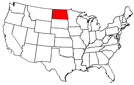 North Dakota location