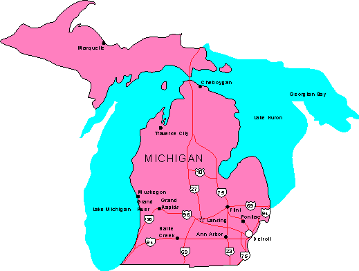 Michigan Maps Map Of Michigan - Micigan map
