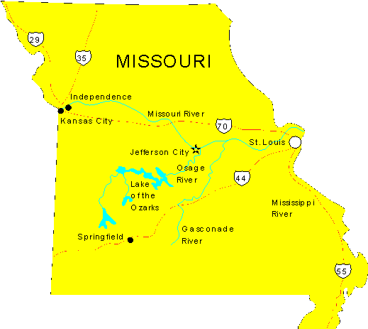 Missouri Maps Map Of Missouri - Mossouri map