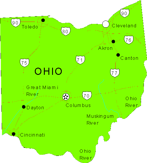 Ohio Maps - map of Ohio