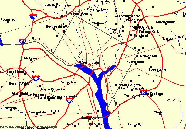 Map of Washington D.C.