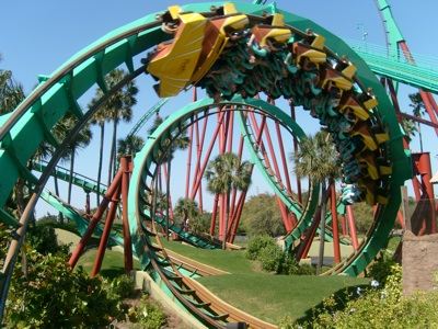 Kumba at Busch Gardens in Tampa, Florida. This image is Copyright Christopher Down and used with permission.