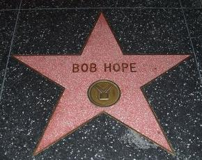 Bob Hope's star in the Hollywood Walk of Fame in Hollywood, Los Angeles, California