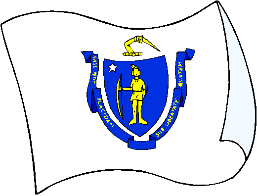 Massachusetts Flag - pictures and information about the flag of Massachusetts