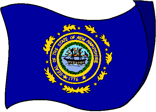 New Hampshire Flag - pictures and information about the flag of New Hampshire