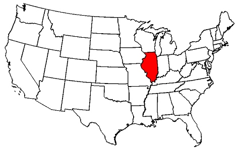 united states map illinois Illinois Maps Map Of Illinois