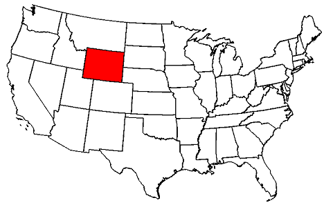 wyoming on the us map Wyoming Maps Map Of Wyoming wyoming on the us map