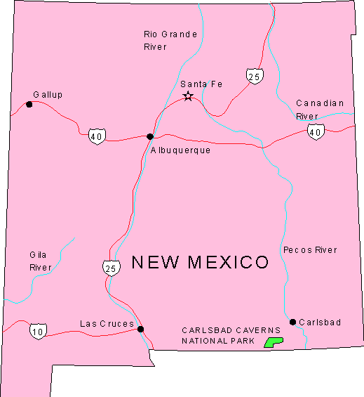 New Mexico Maps - map of New Mexico