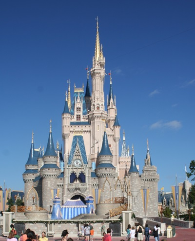 Cinderella Castle in the Magic Kingdom, Walt Disney World Resort, Orlando, Florida
